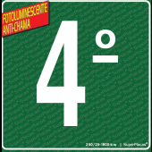 Placa 4° Andar - Fotoluminescente